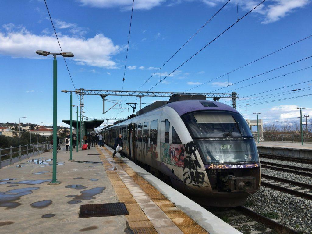 キアト駅に到着した列車